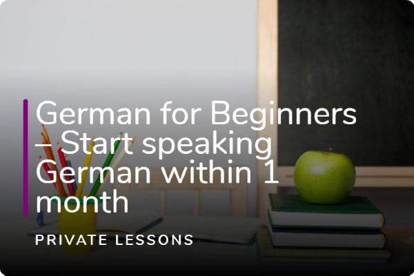 German for Beginner